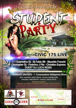 Sab15.09.2012 STUDENT PARTY RITORNA!