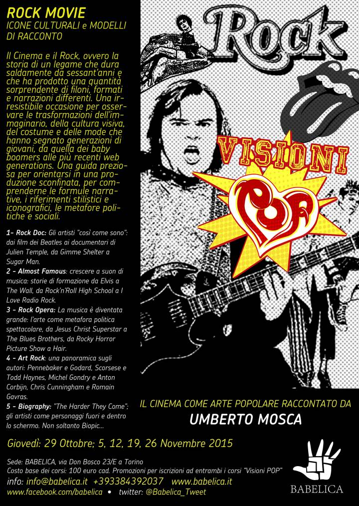 Visioni Pop – Rock Movie raccontato da Umberto Mosca